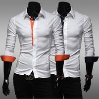 2014 Mens Casual Slim Fit Design Quality Long Sleeve Shirt Men Fashion Brand Dress Shirts