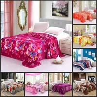 Best Sellers. 15 color ultra soft double Black Fleece summer nap children coral fleece blanket flower flying 230*250
