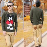 2014 Winter New Fashion Mens Sweater Cartoon Round Neck Men's Sweaters salomon Pullover Youth Sweater Korean fashion Sweatshirts