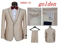2014 Fall  Fashion Men's groom suit,Men's Suits And Trousers Casual Red Bow Tie Men's Sports Apparel (Jacket + Pants) No-frills