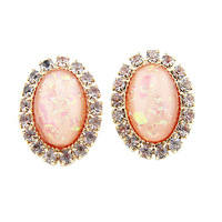 Free shipping 201Jewelry earring gold coral ear stud cheap promotion