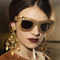 2014 New Vintage Hollow Fashion Summer Cool Sunglasses Women Men Brand Designer Elegant Lace Flower Cat Eye sunglasses