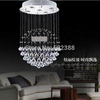 Modern Round Ball Crystal Chandelier Lamp Lustres De Cristal Living Room Restaurant Lighting Lustre Bedroom Lamps Stair Lights