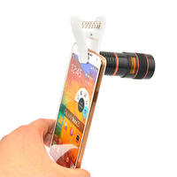 Universal 8X Optical Zoom Telescope Camera Lens for Mobile Phone iPhone 4 5C Samsung S5 S4 S3 Galaxy Note 2 3 CL-19U