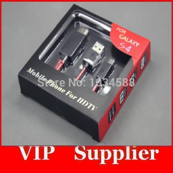 Hot sale 2M Micro USB MHL to HDMI Cable adapter HDTV Samsung Galaxy S3 i9300 S4 i9500 Wholesale 50pcs/lot(China (Mainland))