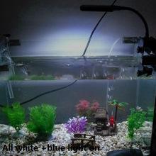 Aquarium Fish Tank 28 LEDs Clip Light Lighting Lamp Touch Switch 3 Modes White Blue Flexible 85-265V Aquariums Accessories(China (Mainland))
