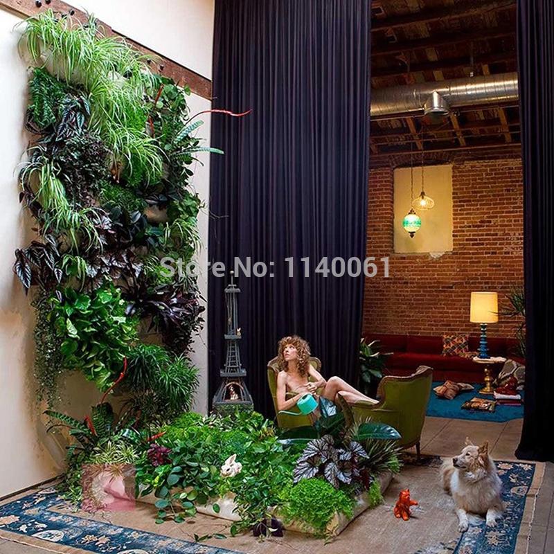 Parede grátis frete montada vida interior parede plantador potes(China (Mainland))