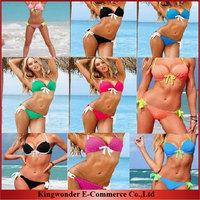 Wholesale Free shipping Vintage Bikini Women Sexy Swimsuit Ladies' Swimwear Beachwear Leopard  women bikini set BKN 008