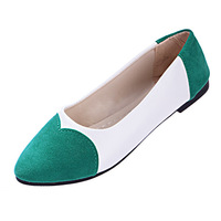 Four Seasons candy colors shallow mouth round flat comfortable shoes women shoes scoop