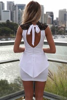 2014 new summer women Slim sexy lace halter dress  Clothing