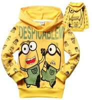 Retail Free shipping Spring Autumn despicable me minions children boys Sweater Hoodies Clothes kids sweater clothing