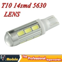 2X T10 LED W5W Car LED Auto Lamp 12V Light bulbs with Projector Lens for Focus Cruze Tiguan Interior Packing Car Styling #YNB90e
