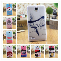 Heart Transparent Side Plastic Hard Back Print Shell Animated Cartoon Cover Case For Lenovo A656 A766 Phone Cases