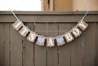 Free Shipping!2014 New Wedding Banner Bunting ' It's a boy' BABY Shower Party Decorations