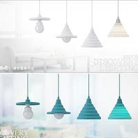 Multicolour single-head silica gel combination small pendant light child real folding modern lift brief bedroom lights