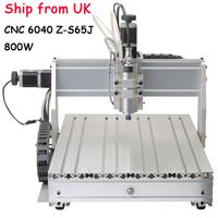 Ship from UK  Mini Engraving Machine CNC 6040 Z-S65J 800W CNC Router CNC6040 Engraving/ Drilling/ Milling Machine