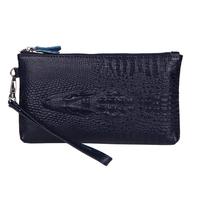 Genuine Leather 2014 Women's Handbag Lady Evening Bags Alligator Day Clutch Pocket Designer  brand women wallets Crocodile 3D