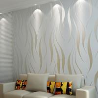 Grey striped wallpaper silver, Vertial striped wall paper roll for walls, White stripes wallpaper non woven