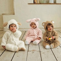 New Fashion Animal Style Clothing Romper Baby Clothes Autumn And Winter Baby Clothes Baby Clothing Coral Fleece b14 SV005481