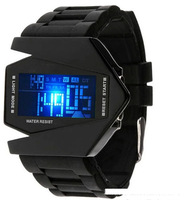 Free shipping fashion creative personality aircraft watches. LED new multifunctional electronic watch. With alarm