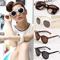 2014 New fashion vintage round frame sunglasses Star Style Brand women men retro sun glasses