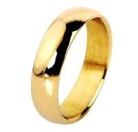 17-21mm Size 18K Gold Silver Plated 316L Stainless Steel Men Women Jewelry Wedding Rings Free Shipping