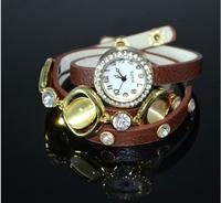 Wristwatches New 2014 Fashion Style Design Vintage Ladies Women Love Quartz Bracelet Women Rhinestone Dress Watches