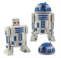 Star War Series R2D2 Robot USB Flash 2.0 Memory Drive Sticks Pen Disk 4GB 8GB 16GB 32GB 64GB Rubber Free Shipping