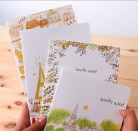 4PCS/LOT Cute Book notebook Korea Stationery small diary soft cover note book notepad