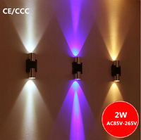 2W LED Double Ends Wall Lamp Brief Modern Stair Lamp Aisle Lights Wall Lights Multi colors Holidays Lamps For Home Decoration