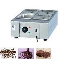 DIY 4 tanks Electric chocolate melter  ,4 pots stainless steel baking chocolate melting stove/pot