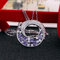 Female austrian crystal  fashion accessories crystal pendant female short design for founder