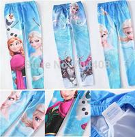 Promotion 1PC RETAIL Baby Girl Leggings Frozen Cotton Legging Kids frozen elsa costume kids baby brand clothing
