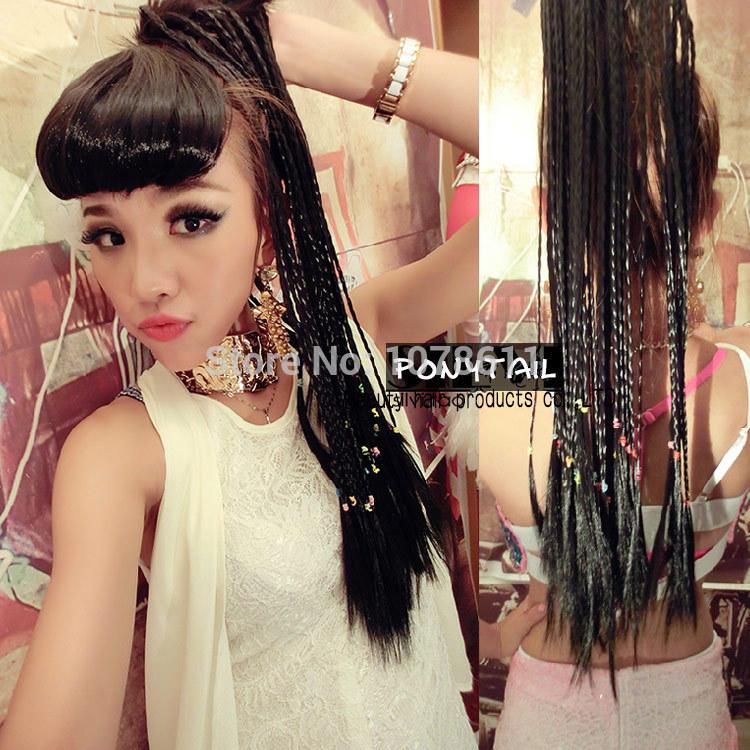 Weave Ponytail With Braiding Hair Hair Weave Wig Braid