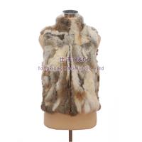BG30406  New 2014 Women Vest Genuine Fox Fur Vest Waistcoat Wholesale Retail Real Fur Vest Waistcoat