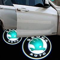 Skoda welcome light laser light door refires