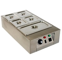 DIY 5 tanks Electric chocolate stove,baking  5 pots stainless steel chocolate melting pot