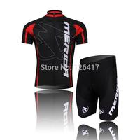 2014 New Merida Short Sleeve Cycling jersey bicycle bike wear shirt and bibs shorts or shorts Size :S ~XXXL