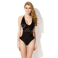 Colloyes 2014 New Sexy Black Tassel One-piece Swimwear with Fringe and Side Cut-outs  Free shippinhg