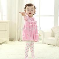 Retail- Autumn bow newborn baby girls dress,Birthday Party baby dresses,princess infant dress baby clothing vestidos infantis