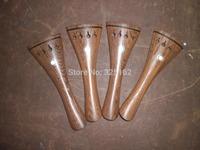 4 PCs Wenge Wood Violin Tail Piece 4/4