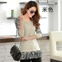 2014 New Fashion Chiffon Sleeve Sleeved Long Sections Of Bottoming Shirt Sweater Z0692