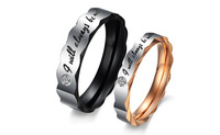 GJ301  New Titanium Steel ring WEDDING BAND RING Stainless Steel Couple ring  1 piece