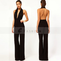 Free Shipping! European And American Nightclub Festa Halter Coveralls Pants Sexy Women Backless  Lady  Long Jumpsuit