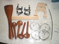 1 Set Jujube Red  Cello Fitting 4/4 with 4 Fine tuner & Tail gut & String & Bridge & Sound post 11mm*18.5CM