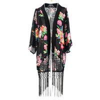 HOT Vintage Retro Boho Hippie Chiffon Blouse Tops Kimono Coat Cape Blazer Jacket  73185-73187