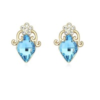 Fashionable Austrian Crystal Childhood Play Pattern Earrings - Multicolor