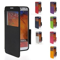 Scratch-proof Luxury Genuine Leather Case For Samsung Galaxy NOTE3 With Card Holders Wallet Stand Flip Back Cover phone shell