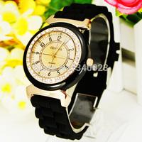 Free Shipping! Hot Sale 1pc Elegant Round Dial Design Crystal Girl's Women Jelly Quartz Watches CS2