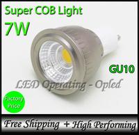 Newest! Super COB LED Lamp Spot Light GU10 COB LED Bulb light 7W, 100% reflecting lighting (Bright but not Concentrated)